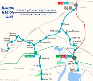 Jurong Region (Turquoise) Line Map